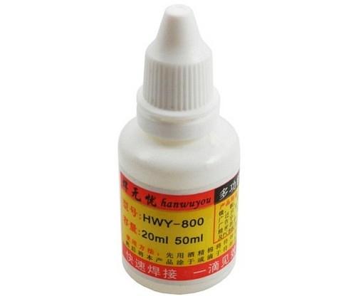 Жидкий флюс HWY-800 20ml для железа, стали, цинка (GOOT)