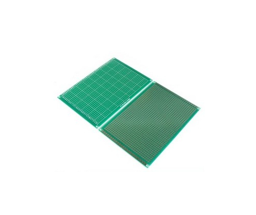 Макетная плата печатная 8 х 12 см 1.6мм шаг 2.54 PCB односторонняя зеленая