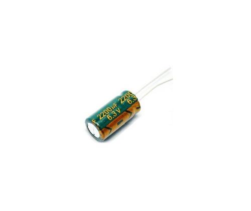 Конденсатор электролитический 6.3V 2200UF 10х20mm