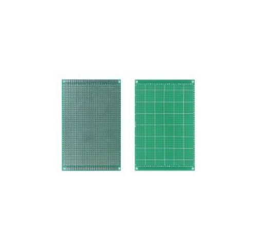 Макетная плата печатная 9 х 15 см 1.6мм шаг 2.54 PCB односторонняя зеленая