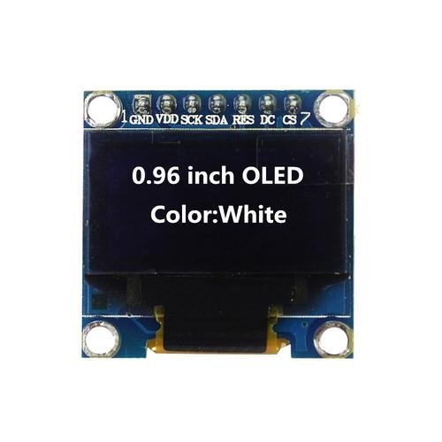 Дисплей 0,96' OLED SSD1306 12864 SPI I2C 2,2-5,5V белый