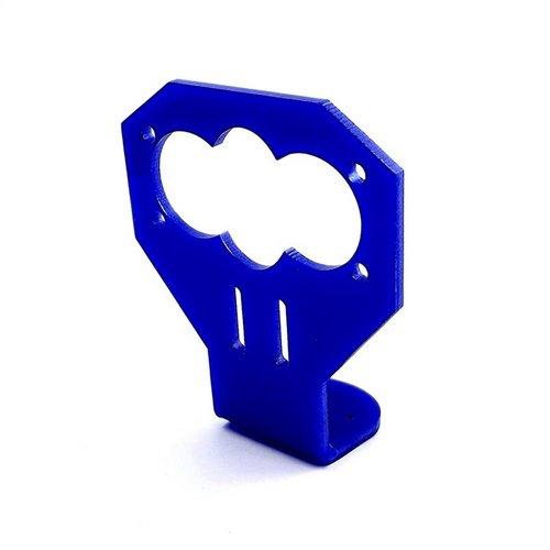 Кронштейн для датчика расстояния HC-SR04 акриловый синий