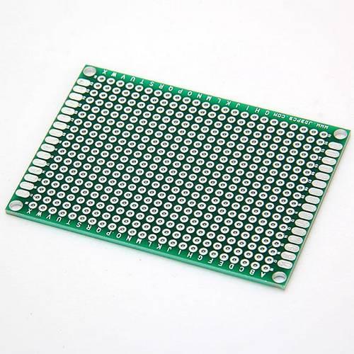 Макетная плата печатная 5 х 7 см односторонняя зеленая