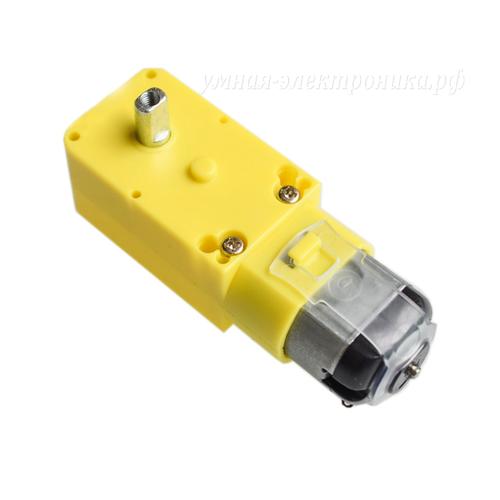Мотор-редуктор DC 3-6V 90-200 RPM 5.4Ω 48:1 метал на выходе