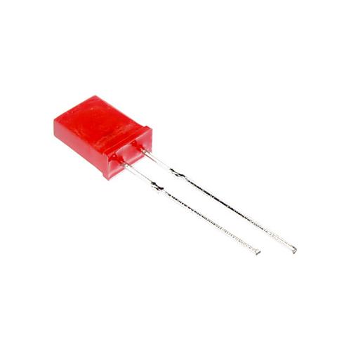 Светодиод прямоугольный 2*5*7 мм красный