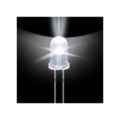 Светодиод 5 мм прозрачный холодный белый 10 шт