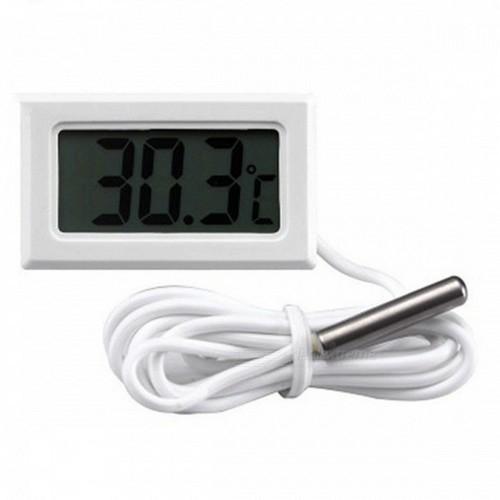 Термометр компактный встраиваемый -50+110°С с зондом 1м белый