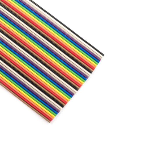 Шлейф (плоский кабель) 40 проводов шаг 1.27 мм 7 цветов 10 см