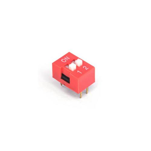 DIP переключатель 2pin красный
