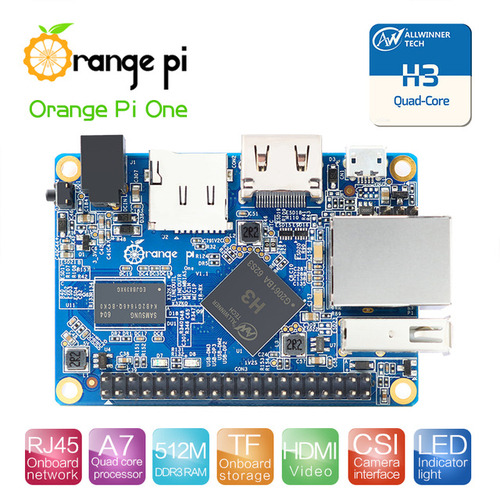 Orange Pi One H3 Quad-core 512M DDR3