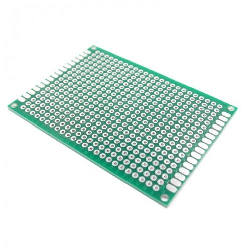 Макетная плата печатная 5 х 7 см двухсторонняя зеленая