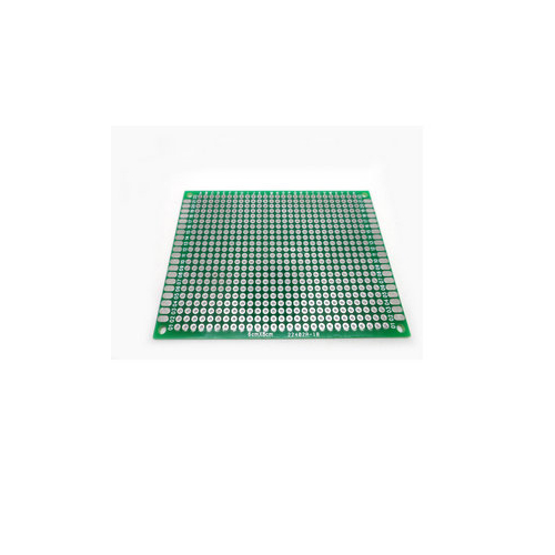 Макетная плата печатная 6 х 8 см 1.6мм шаг 2.54 PCB односторонняя зеленая