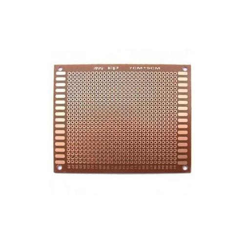 Макетная плата печатная 7 х 9 см 1.2мм шаг 2.54 PCB односторонняя коричневая