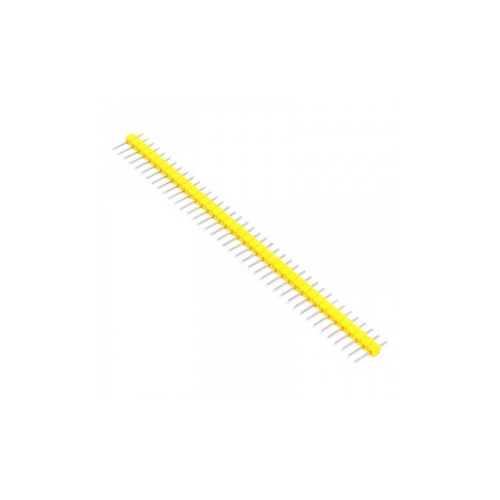 Штыревые соединители 11мм 1х40 шаг 2.54мм желтые