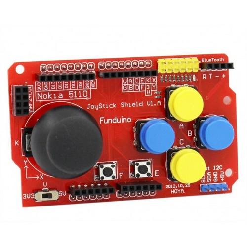 JoyStick Shield с интерфейсом LCD 5110, Bluetooth, nRF24L01